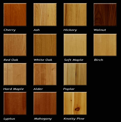 cabinet wood types and costs wood types for furniture at the galleria