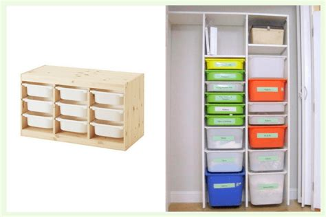 Kitchen Wall Shelving Ideas - trofast using ikea storage boxes without the frame ikea hackers