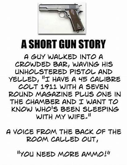 Gun Short Story Jokes Earl Pitts Wake