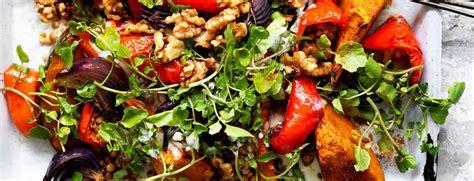 recette de cuisine grecque recette végétarienne salade chaude de potiron rôti aux épices