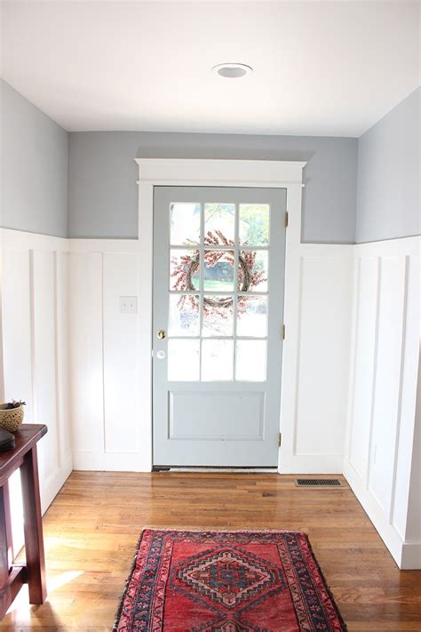 from blue to gray entryway paint colors