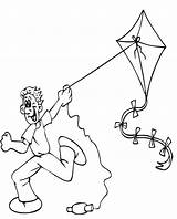 Kite Coloring Flying Pages Printable Fly Colouring Clipart Summer Kites Children Boy Bestcoloringpagesforkids Cartoon Sheets Sankranti Clip Makar Preschool Printables sketch template