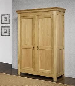 Armoire Chene Massif : armoire 2 portes en ch ne massif de style campagnard meuble en ch ne massif ~ Teatrodelosmanantiales.com Idées de Décoration