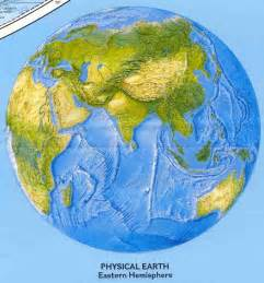 Eastern Hemisphere World Map