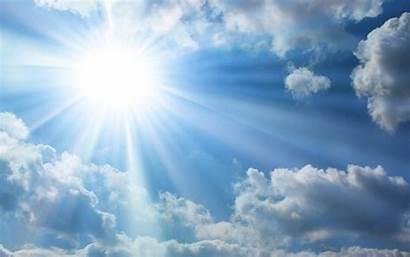 Sun Bright Sky Clouds