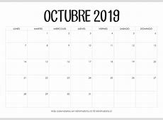 Calendarios 2019 para Imprimir Minimalista