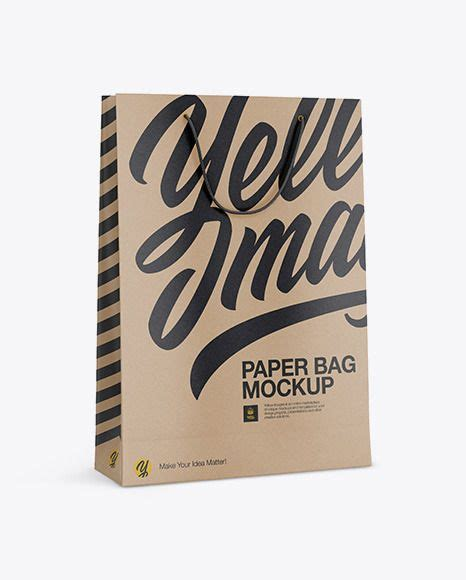 Free front view paper bag mockup psd. Kraft Paper Bag Mockup Half SideView Download Kraft Paper ...