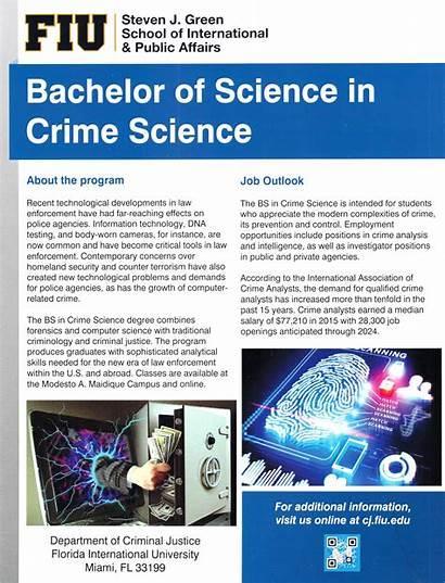 Science Crime Bs Criminology Justice Criminal Flyer