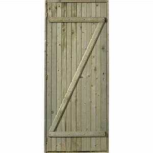 porte de service bois sapin classe 3 poussant gauche h With comment faire une porte en bois pour exterieur