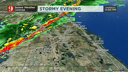 Weather Florida Central Severe Through Wftv Overnight