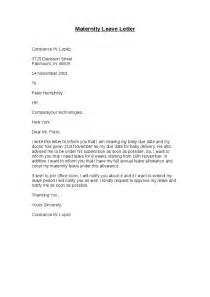 Letter for employer for maternity leave maternity leave letter to employer pertamini co with regard template spiritdancerdesigns Image collections