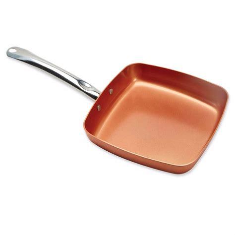copper chef xl   square nonstick ceramic aluminum fry pan    tv ebay