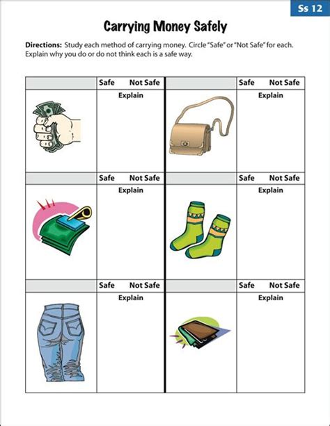 social skills worksheets for special education