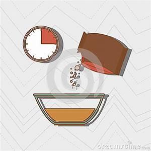 Food Preparation Instructions Design Stock Illustration