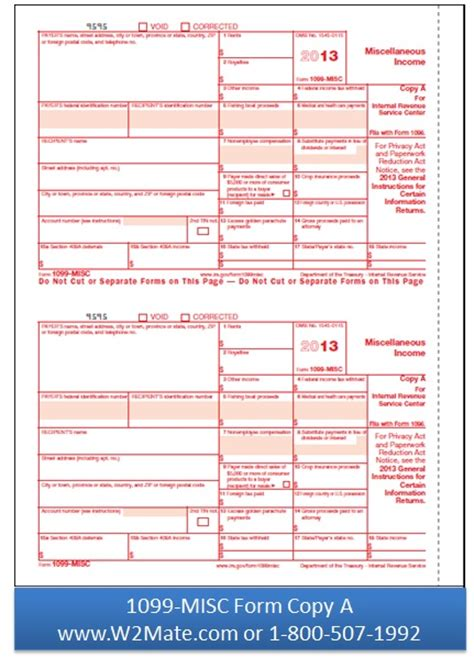 1099 misc federal copy a 1099 forms