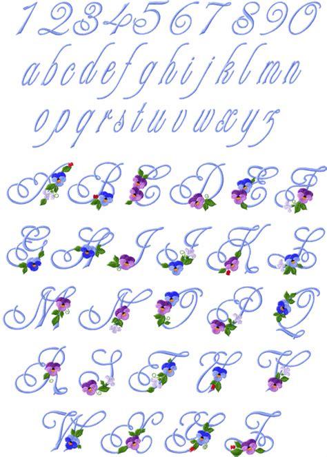 pansies alphabet