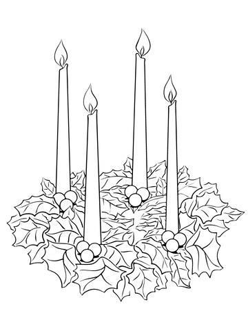 advent wreath coloring page supercoloringcom