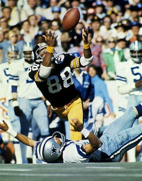 steelers swann lynn football pittsburgh super bowl nfl 70s catch cowboys sports heroes visit team superbowl mentalfloss