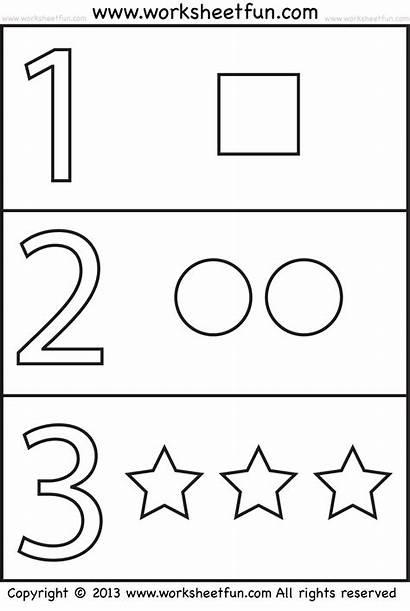 Worksheets Numbers Coloring Shapes Worksheet Number 123