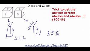 Dices And Cubes Verbal And Non