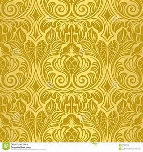 Gold Seamless Wallpaper Royalty Free Stock Photo - Image ...