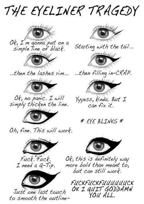 Eyeliner Meme - eye liner problems b as blonde