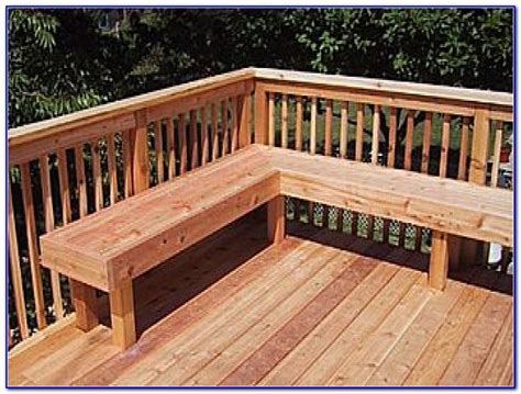 built in deck bench seating decks home decorating