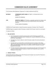 sales representative agreement template sample form