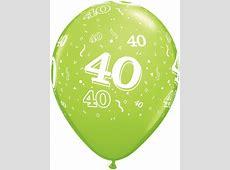 Helium Luftballon Zahl 40 zum 40 Geburtstag, 28 cm