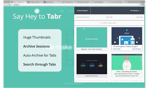 tabr to organize your chrome tabs and boost your ram with