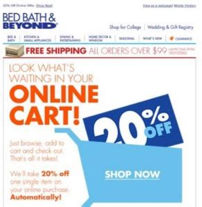 bed bath  latest coupon promo codes