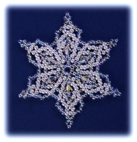 Beaded Snowflake Ornament Pattern