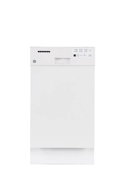 ge white built   dishwasher  stainless steel short tub appliance outlet