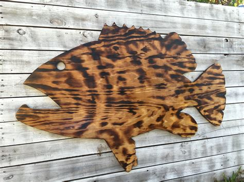 large outdoor wall fish decor coastal fish sign