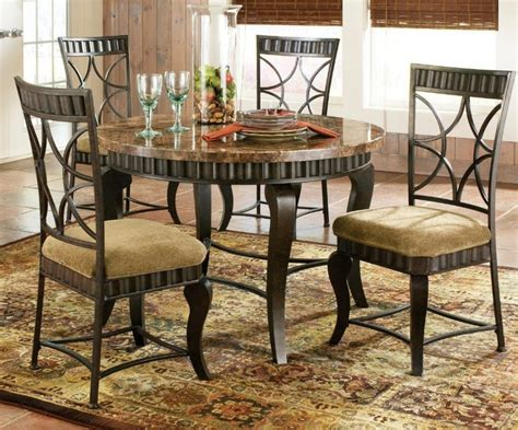 round marble kitchen table and chairs furniture round granite top dining table counter height