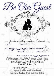 Beauty and the beast wedding invitation a little warped for Beauty and the beast wedding invitation template free
