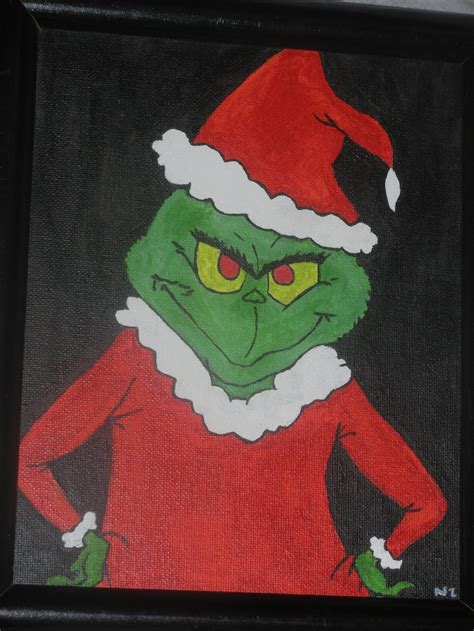 grinch grinch  paintings  pinterest