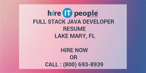 full stack java developer resume lake mary fl hire