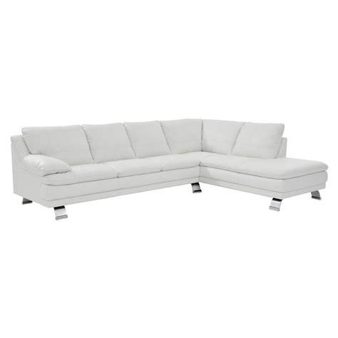 el dorado furniture leather sofas rio white leather sofa w right chaise el dorado furniture