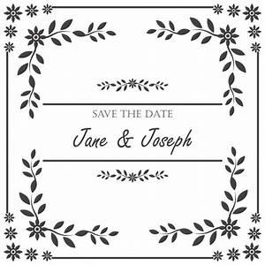 Moldura do convite do casamento do vintage Baixar vetores grátis