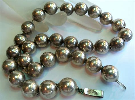 mexico sterling silver  designer bead necklace