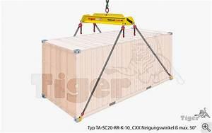 20 Fuß Container In Meter : containertraversen kran hebetechnik bersee container tiger lastaufnahmemittel ~ Frokenaadalensverden.com Haus und Dekorationen