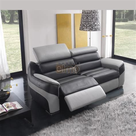 canap 233 relaxation contemporain en cuir bicolore t 234 ti 232 res r 233 glables