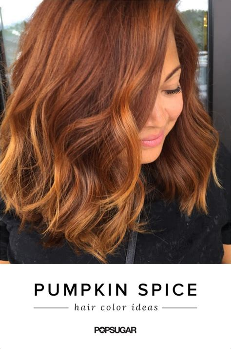 Hair Dye Colours For Hair by Pumpkin Spice Hair Color Trend Popsugar