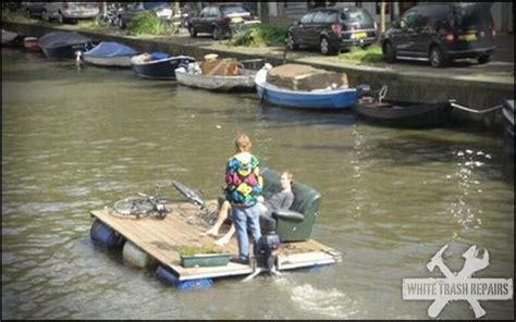 Trash Boat Ideas by Pontoon Boat Whitetrashrepairs