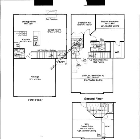 Centex Floor Plans 2004 by Blue Sapphire Model In The Renwick Trail Subdivision