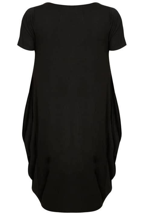 drape nj black drape side jersey dress plus size 16 to 32