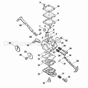 Stihl Ms 250 Chainsaw  Ms250  Parts Diagram  Carburetor Wt