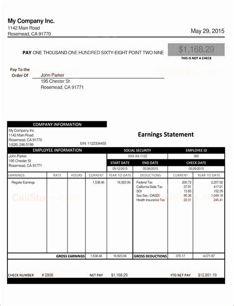 exle pay stub for students 7 excel paycheck template exceltemplates exceltemplates