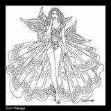 Coloring Adult Blank Fairy Leonora Corset Prinses Kleurplaten Pencil Printable Template Sheets Adults Shore Jim Bron Colouring Stencil Dibujos Grown sketch template
